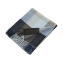 "Avoca irish Lambswool Blanket ""Denim"""