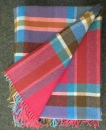 "Avoca irish Lambswool Blanket ""Cerise"""