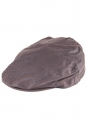 Waxed Cotton Flat Cap brown